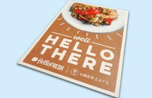 Hello Fresh Printed Poster