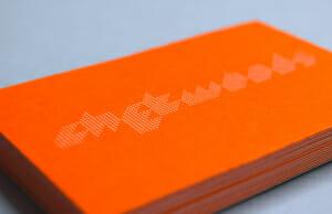 Business card foil duplex