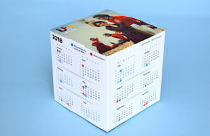 Calendar cube printing