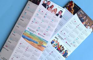 Calendar tent card