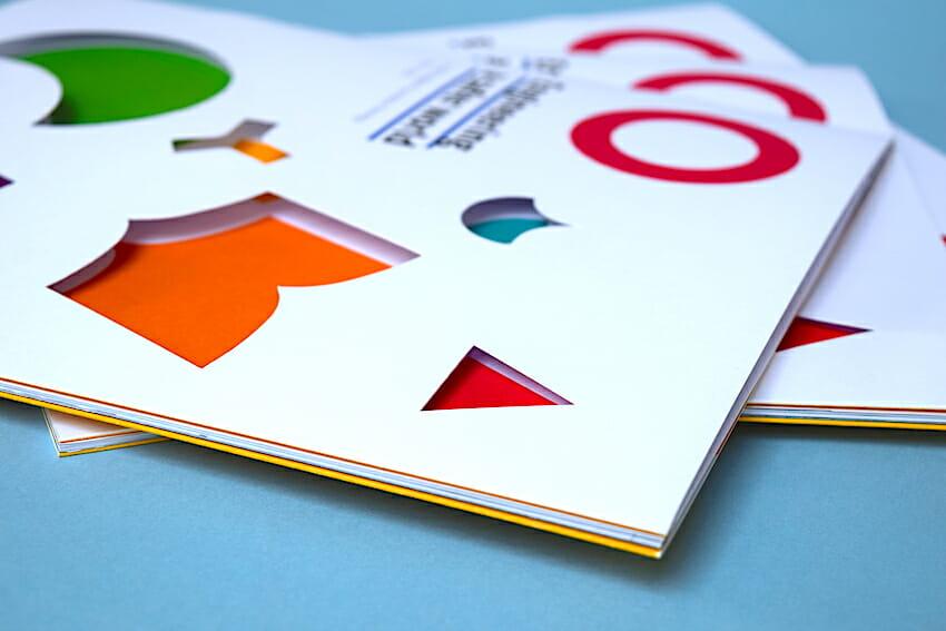 Die cut brochure