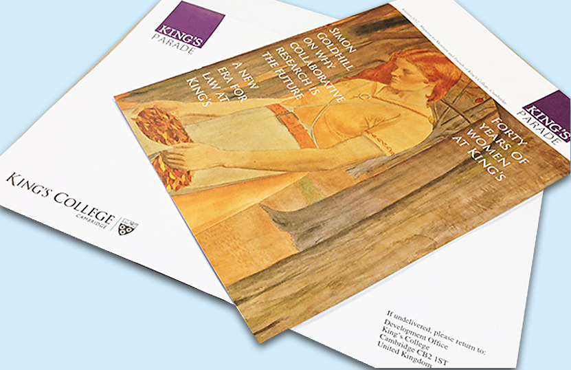 Printed Direct Mailing for King's College