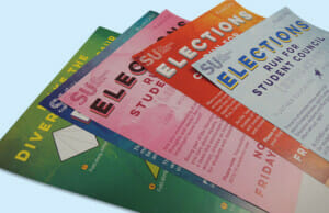 Selection of Student Coloured Leaflets