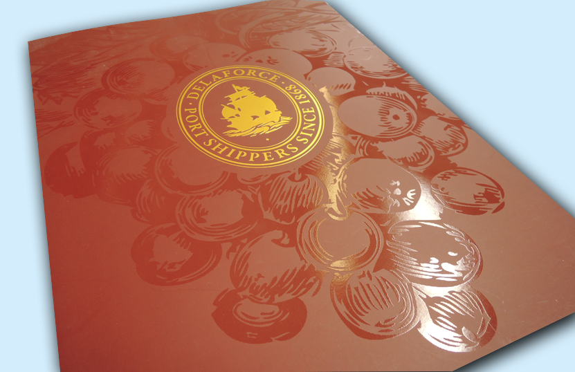 Gold and Red Printed Folder