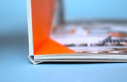 Layflat binding printing