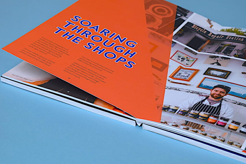 Layflat brochure printing