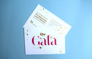 Luxury printed invitation