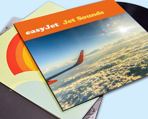 Printed Easy Jet Record Sleeve