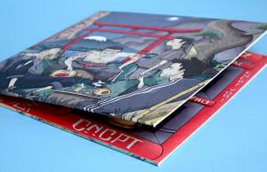 Printed vinyl sleeve