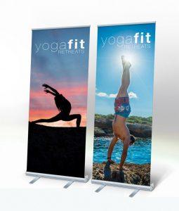 Printed large yoga banners