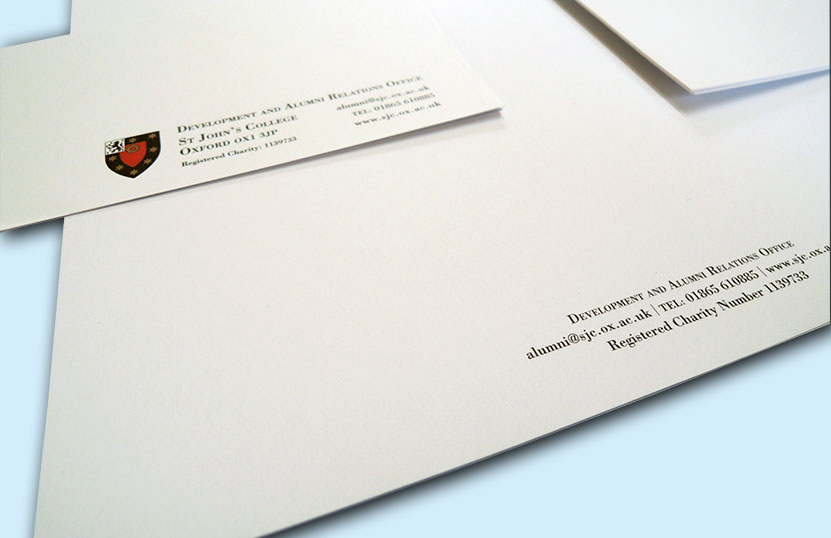 Printed Stationery for Alumni