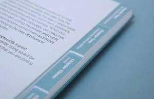 Tab index book printing