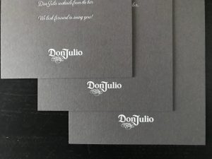 Don Julio printed event invite